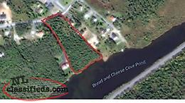 Waterfront building lots for sale