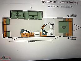 2017 281RL Sportsmen Travel Trailer