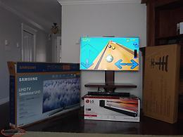 Tv/ Tv stand/ LG sound system/wireless subwoofer for sale
