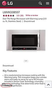 LG Over The Range Microwave