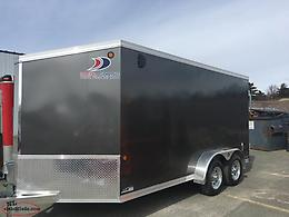 7 x 14 Enclosed Galvanized Trailer