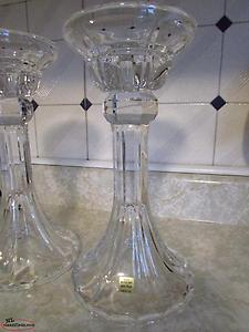 Large Crystal candle holders