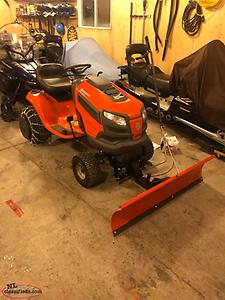 PRICED REDUCED TWICED Snow plow for lawn tractor