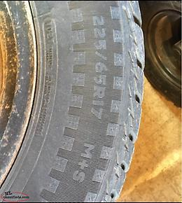 4 Studded Winter Tires And Rims. 225/65R 17