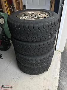 For Sale - 4 Tires and Rims - LT245/70/R17