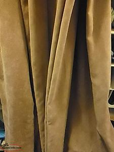 Curtains - Faux Suede Coffee Colour