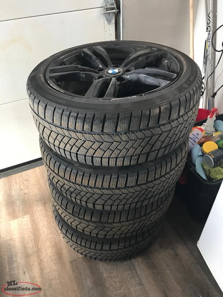 BMW 320I   4 Winter Tires C/W Black Alloy Rims - St  John's