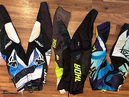 Selection of youth motocross pants
