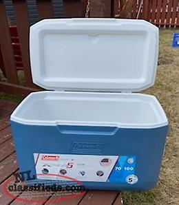 New Coleman 70-Quart Xtreme 5 Cooler, 100 Cans never used.