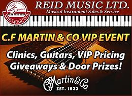 MARTIN GUITARS EVENT! MAY 14th 2019