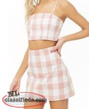 Matching gingham set