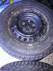 4 Studded Winter Tires and Rims 205/65/16 removed from 2012 Camry