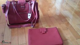 For sale a beautiful red canadian leather portfolio bag..brand new