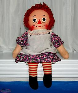 "Vintage 18"" Talking Raggedy Ann Doll Missing Cord"