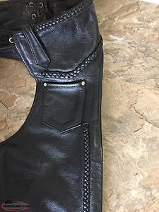 Motorcycle Leather Riding Chaps