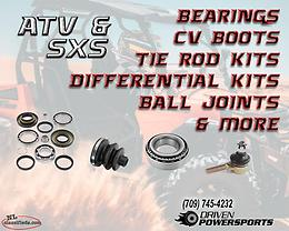 Now Available ATV / UTV Suspension Parts