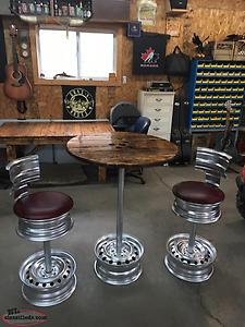Swivel Bar Stools And Table