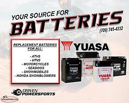 Maintenance Free Sealed Batteries For ATVs & Side x Sides