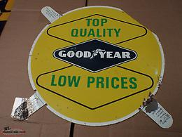 vintage goodyear display sign