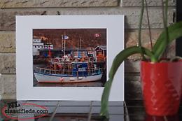 8x10 Photography Print of a Boat in Petty Harbour, Newfoundland