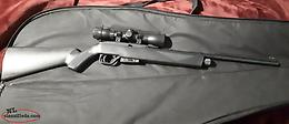 crossman CO2 air rifle,case,scope,etc