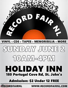 Record Fair NL June 2nd!