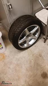 18 chrome rim amd tire