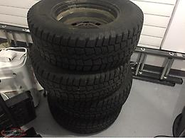 265/70/17 Tires & Steel Rims