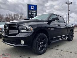 2016 RAM 1500 SPORT 4X4 - 5.7L HEMI CREW CAB; ONLY $210+TAX BI-WEEKLY!!!!!!