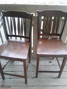 two pub / bar chairs