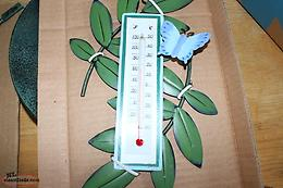 Avon Green Decorative Clock with Thermometer NEW