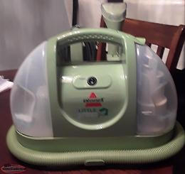 BISSELL LITTLE GREEN PORTABLE CARPET & UPHOLSTERY CLEANERS