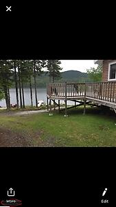 Waterfront Cabin Land. Fully developed and ready for building a cabin.