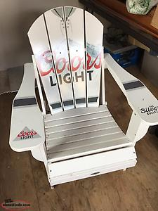 awesome FOLDAble Adirondack coors Light Chair