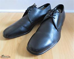 McHale 61206 Black Plain Toe Derbies in Size 11.5E - Made in Canada!