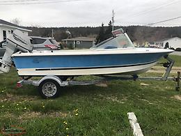 14ft Fibreglass Boat, Motor & Trailer
