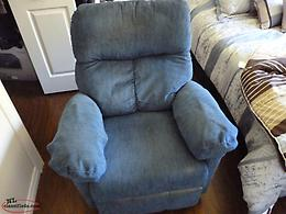 BLUE RECLINER FOR SALE