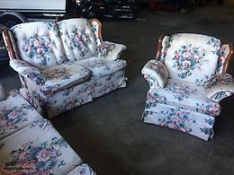 Couch, Love Seat & Matching Recliner