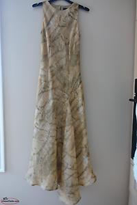 Elegant Pure Silk Dress by Paul Costello, Size 4