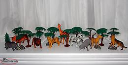 Safari Animals Forest Lot Clean Condition