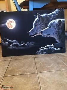 New Framed Wolf Canvas