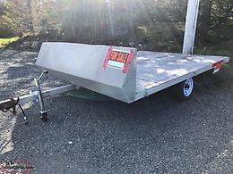 Aluminum trailer for snowmobiles, quads or side by side