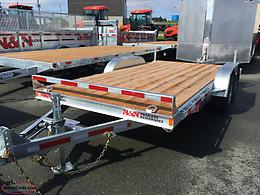 7 x 16 7k galvanized car hauler