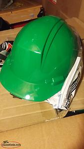 NEW green or white hard hat
