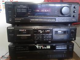 Sony Amp CD Player and 3 Nuance Speakers