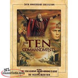 The Ten Commandments - Cecil B. DeMille 50th Anniversary 2-DVD Set. Great condi
