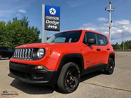 2016 JEEP RENEGADE SPORT 4X4 - FULLY INSPECTED; $89+TAX BW 84 MONTHS!!!
