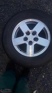 Tires and rims chev equinox