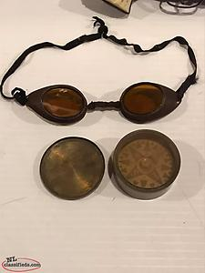 antique sealers goggles and compass