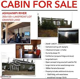 Beautiful Cabin for Sale - Ashuanipi River, Western Labrador